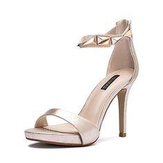 Paco Mena Damen Emirates Pumps, Gold (Stone), 41 EU. Damen Sommer Sandalen  Pumps/Stiletto Schuhe mit Mode Damen high heel sexy Joker-B