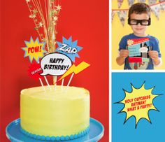 vintage super hero party supplies | SPACE FOR INSPIRATION: One terribly charming party..