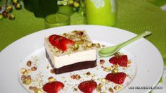 Les délices de Coco : cheese cake au chocolat et pistaches Cheesecake, Cake Chocolat, Tiramisu, Ethnic Recipes, Desserts, Food, Pistachios, Fresh Fruit, Tailgate Desserts