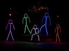 Adult LED stickman costume