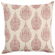 Rambagh Woven Paisley Pillow - Red   Pier 1 Imports