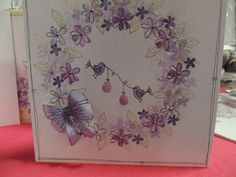 handmade greeting card ... playful wreath stamped with peg stamps from Rubber Stamp Tapestry ...