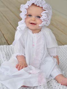 Clara is gorgeous in her Mela Wilson Heirloom day gown. Email mela.wilson2@comcast.net