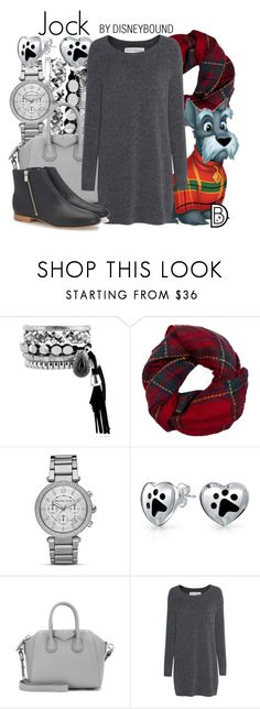 """""""Jock"""" by leslieakay ❤ liked on Polyvore featuring Fevrie, MICHAEL Michael Kors, Bling Jewelry, Givenchy, Fine Collection, Loeffler Randall, disney, disneybound and disneycharacter"""