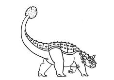 Ankylosaurus, : Ankylosaurus Lifting His Tail High Coloring Page Coloring Sheets, Coloring Books, Online Coloring Pages, Free, Birthday, Party, Inspiration, Ideas, Vintage Coloring Books