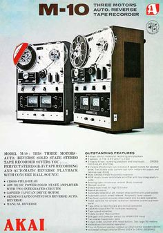 1969 Akai M10 reel tape recorder ad in Reel2ReelTexas.com's vintage recording collection