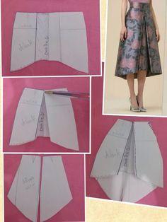 Pattern Drafting Skirt Sewing - Pattern drafting skirt – pattern drafting tutorials, pattern drafting d - Skirt Patterns Sewing, Clothing Patterns, Coat Patterns, Blouse Patterns, Diy Clothing, Sewing Clothes, Barbie Clothes, Fashion Sewing, Diy Fashion