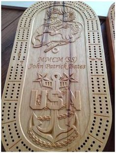 chiefs cribbage boards | Cribbage Boards Cribbage Board Template, Wood Crafts, Diy And Crafts, Cnc Wood Carving, Wood Games, Chip Carving, Cnc Projects, Puzzle Box, Diy Games