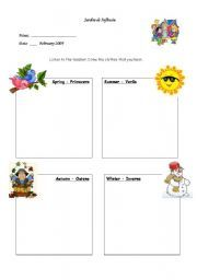 English worksheet: clothes and seasons