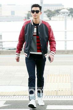 170208 Park Seo Joon @ Incheon Airport, heading to LA for Tommy Hilfiger fashion show. Jung Hyun, Kim Jung, Korean Men, Korean Actors, Park Seo Joon, Tommy Hilfiger Fashion, Joo Hyuk, 3 Piece Suits, Ji Chang Wook