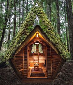 Off Grid Tiny House, Tiny House Cabin, Tiny House Living, Tiny House Design, Cottage House, Off The Grid Homes, Forest Cabin, Forest House, Cabins In The Woods