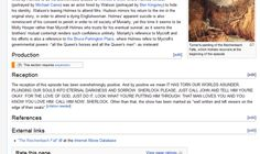 Epic wikipedia entry on The Reichenbach Fall XD LAUGHING SO HARD <--- Crying so hard!