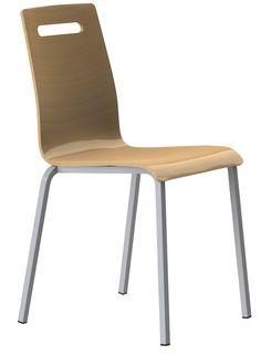 CHAISE ZOE EMPILABLE COQUE AVEC PRISE DE MAIN #chaise #chair #fauteuil #siegerestauration #equipementrestaurant #empilable