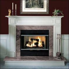 """Royalton 36"""" Radiant Wood Burning Fireplace Full Refractory Lining Integral Outside Combustion Air Built-in Cast Iron Flue Damper Basket Grate Wire Mesh by Majestic, http://www.amazon.com/dp/B003U7NFSY/ref=cm_sw_r_pi_dp_AX3zrb072HZ9H"""