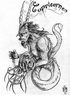 Capricorn Tattoo Design For Guys