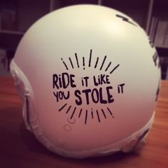I decided to re-paint my helmet using white mate paint and add some fun stuff using posca pens Monster Motorcycle, Motorcycle Helmet Design, Women Motorcycle, Ducati Monster, Motorcycle Stickers, White Paint Pen, Helmet Paint, Custom Helmets, Posca