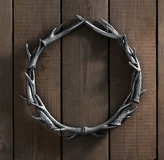 Little ashamed to say I like this antler wreath from Restoration Hardware...