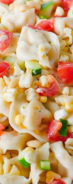 Summer Tortellini Salad ~ A quick and easy pasta salad with tortellini and summer vegetables... Perfect for summer cookouts!
