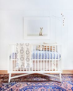 Amber Lewis did it again. Her latest project involved a nursery for a growing family and, as always, many vintage exotic textiles fearlessly mixed together.