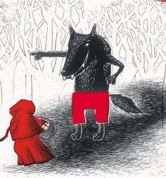 Le chemin le plus court, c'est par là, Petit Chaperon rouge.