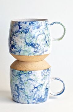 Handmade Bubble Glaze Ceramic Mugs | SoulVesselDesigns on Etsy