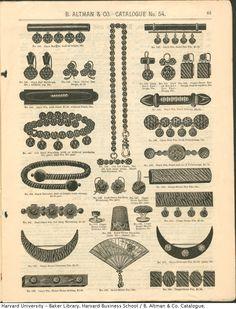 Mourning jewellery 1879-1880 B. Altman catalog
