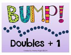 "Kids love these active, kinesthetic slides to increase math fluency: ""BUMP… Math Classroom, Kindergarten Math, Teaching Math, Teaching Ideas, Preschool Math, Classroom Ideas, Addition Facts, Math Addition, Fun Math"