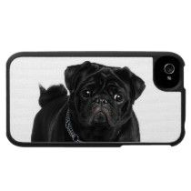 Black Pug iPhone 4 Case by PugMinded.  I want this!!  Looks like my baby girl.