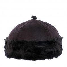 Black Round Fur Cap