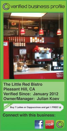 Check out the Little Red Bistro in Pleasant Hill, Ca! Great vibes and tasty treats!