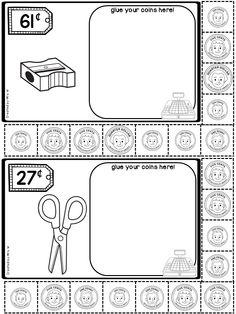 Activities Money Activities - Shopping For School SuppliesMoney Activities - Shopping For School Supplies Money Activities, Autism Activities, 2nd Grade Math, Grade 1, Money Book, Kindergarten Classroom, Classroom Ideas, School Items, Classroom Language