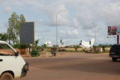 Disassembled airplane, Ouagadougou Airport, West Africa