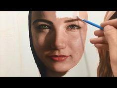 Portrait Painting Demonstration with Jessica Henry Fruit Painting, Time Painting, Painting Videos, Painting & Drawing, Portrait Acrylic, Oil Portrait, Hyperrealistic Art, Acrylic Painting Techniques, Paris Art
