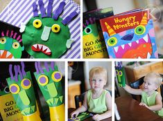 Go Away Big Green Monster. Tons of cute ideas! #book #monster