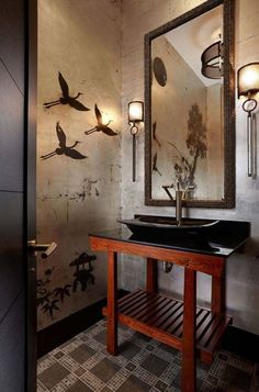 Cool 42 Awesome Asian Bathroom Design Ideas. More at https://homenimalist.com/2018/04/25/42-awesome-asian-bathroom-design-ideas/