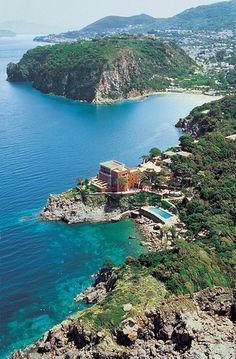 La #Baia di san Montano dall'allto-  #Ischia - #Campania, #Italy