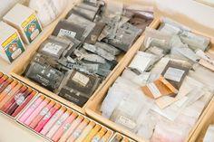 Nihonga pigments and gofun, Fuyuko Matsui studio