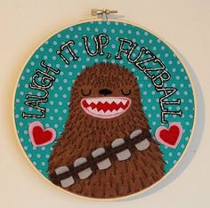 Chewbacca! Will someone craftier than I please recreate something like this for me ??? Or really any of the amazing SW plush items that can be found at the link here within. AMAZING.