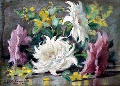 Flores, 1966 Gastão Formenti (Brasil, 1894-1974) óleo sobre placa, 16 x 22 cm