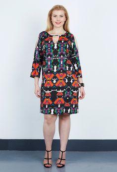 7b55b4d5138 Anna Scholz - Double Silk Cold Shoulder Dress Plus Size Summer Dresses