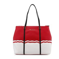 Blu Byblos Designer Shopping Tote Bag In Red And White Features 2 Comfy Handles, Lined And 3 Internal Pockets. Matches Our Blu Byblos Wallet In Red With Metal Latch - Get Yours Today! Clutch Bag, Crossbody Bag, Designer Totes, Designer Handbags, Grey Sneakers, Luxury Bags, Tote Handbags, Tote Bags, Mini Bag