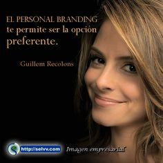 El Personal Branding te permite ser la opción preferente. Guillem Recolons http://selvv.com/imagen-empresarial2/