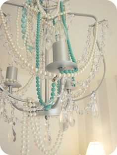 Damnit I want to make a shabby chic chandelier!!