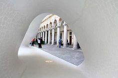 Salone di Mobile Milan pavilion, Italy : A Piece of Banyan University Of Bath, Pavilion Design, Architecture Old, Exhibition Space, Milan, Entrance, Exterior, Building, Landscaping
