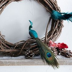 Feather Bird Ornaments - eclectic - holiday decorations - West Elm