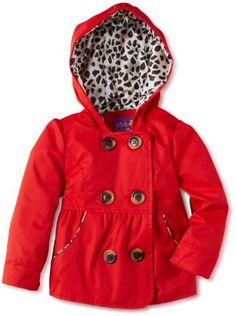 Pink Platinum Toddler Girls 4 6X Spring Red Emma Raincoat/Jacket - Sale Price: $20.99