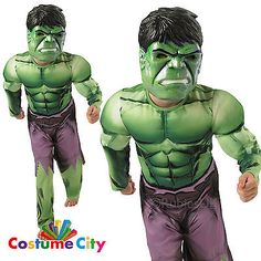 Boys incredible hulk costume #official marvel #avengers fancy dress #party,  View more on the LINK: http://www.zeppy.io/product/gb/2/391141770667/