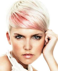 A Rainbow of Colored Pixie Cuts for Spring