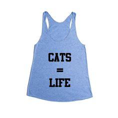 Cats Equal Life Cat Kitty Kitten Kittens Pet Pets Feline Felines Animals Animal Lover SGAL5 Women's Racerback Tank
