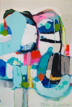 Even Better Together - a painting by Claire Desjardins. 20 by 30 inches - Acrylics on canvas.
